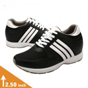 Mens Black/White Elevator Sports Shoes