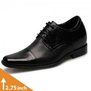 Men's Black Leather Dress Shoes