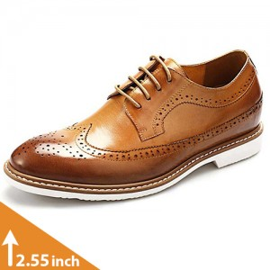 Altolia Premium Leather Brown Bullock Shoes