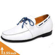Casual Leather Elevator Boat Shoes